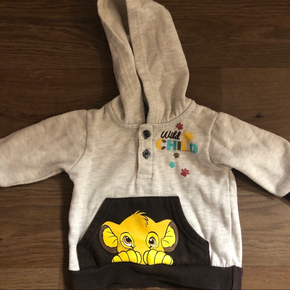 Disney Other - Disney Lion King Hoodie 0-3 months